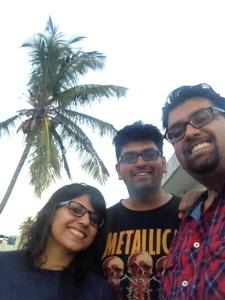 Nikhil, Nitin and I on the terrace