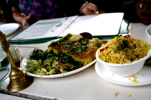 Dhokas and Poha at Heritage House