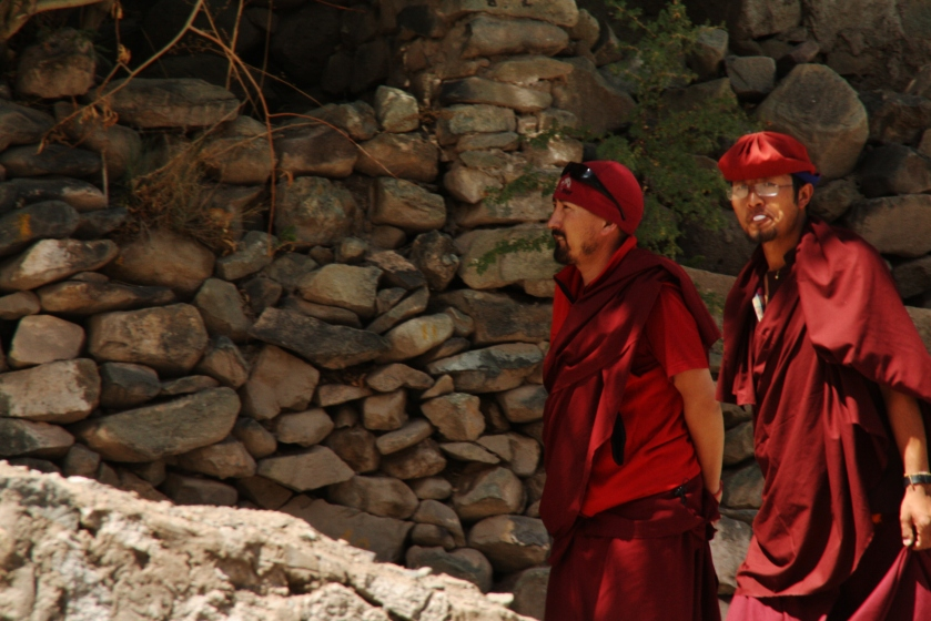The Monk who blew bubbles with his chewing gum